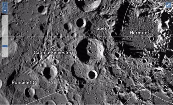 NASA interactive lunar map